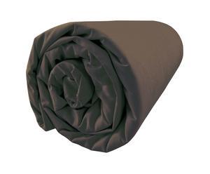 Drap housse Percale de Coton, Chocolat - 140*200