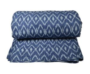 Couvre-lit PEI Coton, Bleu et Turquoise - 260*270