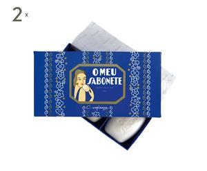 2 Coffrets de 3 savons O MEU SABONETE, Bleu - 150g