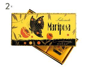 Coffret de 3 savons MARIPOSA, Jaune - 125g