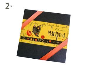 2 Coffrets de 3 savons MARIPOSA, Noir et jaune - 30g