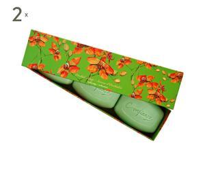 2 Coffrets de 3 savons, Vert - 150g