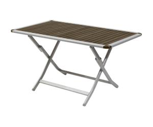 Table pliante, gris et brun - L140