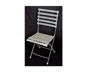 Chaise, Fer forgé et bois - L66