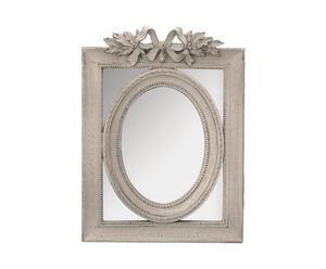 Miroir bois et platre, Gris – L27