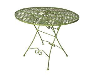 Table Fer forgé, Vert – Ø100