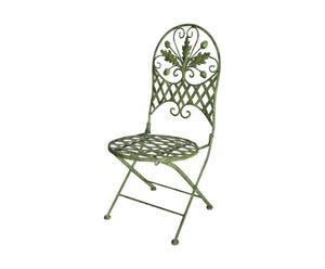 Chaise pliante pour enfant Fer forgé, Vert - L28