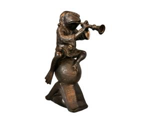 Figurine de grenouille Bronze, Marron - H36