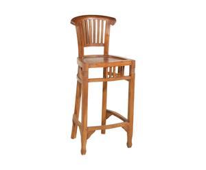 Chaise haute, teck - L45