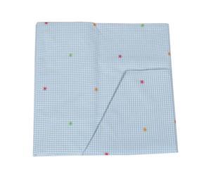 Housse de couette et taie d'oreiller YOKO Coton - Bleu ciel
