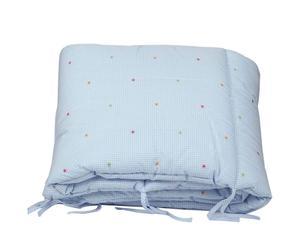 Tour de lit CARL Coton et polyester, Bleu ciel - L21