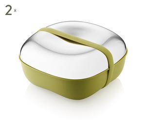 2 Lunch box FLORA, Vert - L15
