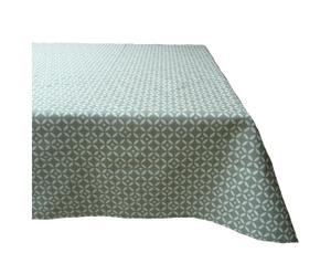 Nappe de table NOEL Coton enduit, Vert - 160*300