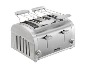 Grille-pain 2 insertions, inox
