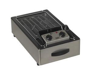 Barbecue électrique Inox et étain, Argenté et noir - L30