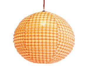 Abat-jour coton, orange et beige - Ø50