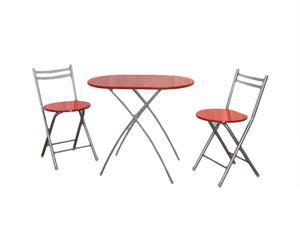 Table et 2 Chaises Sheela, Acier