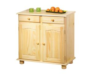 Commode Pin massif, Naturel - L88