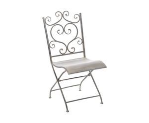 Chaise pour enfant Métal, Gris - H66
