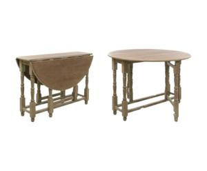 Table pliante paulownia, Naturel - L116