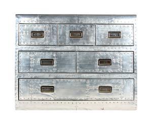 Commode Aluminium, Argenté - L98