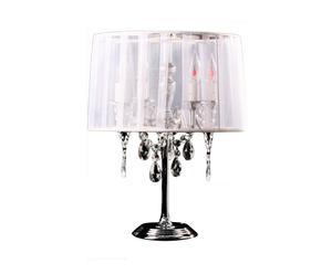 Lampe à poser baroque, blanc - H49