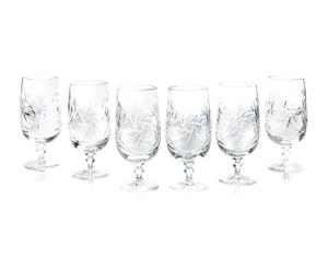 6 Verres à bière DIAMANT Cristal, Transparent – H17