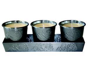 3 Bougies Sceau, Parfum Citronnelle - L30