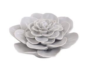 Sculpture céramique, blanc - Ø13