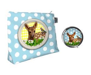 Trousse de toilette et miroir de poche Bambi - L24