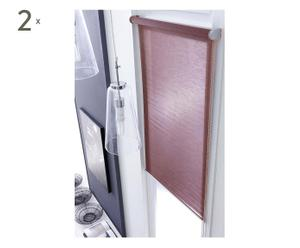 2 Stores enrouleurs ERMA Polyester et nylon, taupe - 140*250