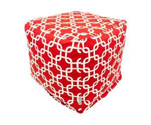 Pouf Polka Dots, Rouge et blanc - L44