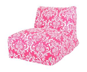 Pouf French Quarter I, Rose et blanc - L69