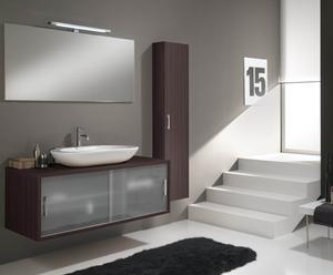 Ensemble salle de bain Java, L130 - Wengé