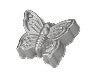 Moule à gâteaux Papillon Aluminium, Argenté - L26