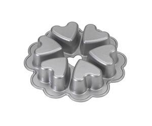 Moule à gâteaux cœur Aluminium, Argenté - Ø23