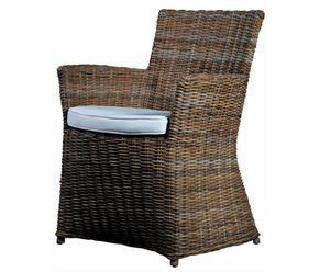 Chaise kubu et rotin, marron – L56