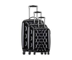 3 Valises chariot TERNES, Polycarbonate  - Noir