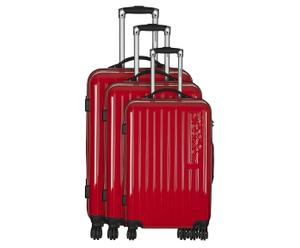 3 Valises chariot  LUE - Rouge