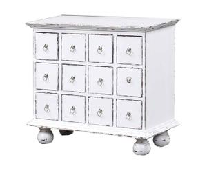 Commode PAUL acajou, Blanc - L81