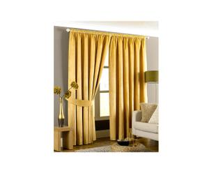 2 Rideaux MAYA Polyester et coton, jaune - 229*168
