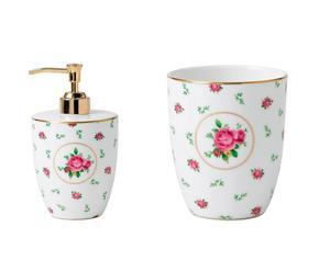 Set salle de bain MANY Porcelaine, Blanc