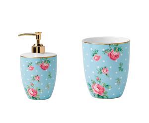 Set salle de bain LANG Porcelaine, Bleu