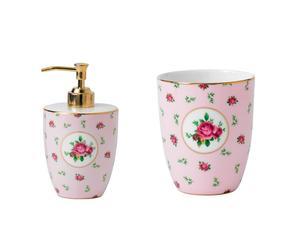 Set salle de bain JANI Porcelaine, Rose