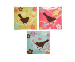 3 Vide-poches Sunny Bird, verre