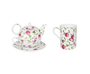 Egoiste et Mug Porcelaine, Rose et blanc