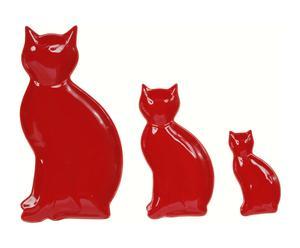 3 Vide-poches Céramique, Rouge