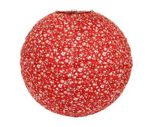 Abat-jour suspension tissu, rouge – H40