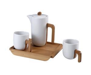 Service à thé Porcelaine, Blanc