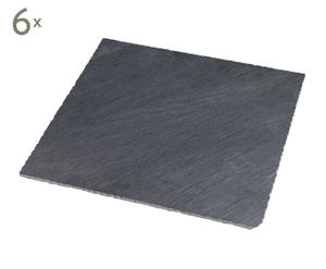 6 Assiettes ardoise, Anthracite - L33